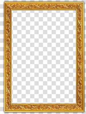 frame, borda dourada de glifo, moldura em relevo ouro PNG clipart