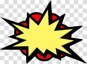 ilustração de caixa de diálogo amarela e vermelha, Batman Superhero Comics, Pow png
