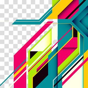 ilustração de fundo gráfico abstrato multicolorido, design gráfico de linha, fundo colorido tecnologia PNG clipart