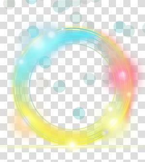 Euclidiano amarelo claro, elemento de efeito círculo simples de luz amarelo, redondo amarelo, azul e laranja png