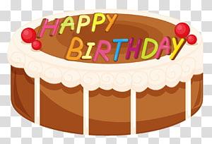 Feliz aniversário bolo ilustração animada, bolo de morango bolo de confeiteiro bolo de aniversário Cupcake, feliz aniversário bolo png