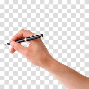 Desenho de mão de papel de caneta, pegue a mão de caneta, pessoa segurando a caneta-tinteiro preta PNG clipart
