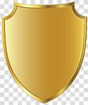 ilustração de escudo de ouro, vinheta de ouro, modelo de distintivo dourado PNG clipart