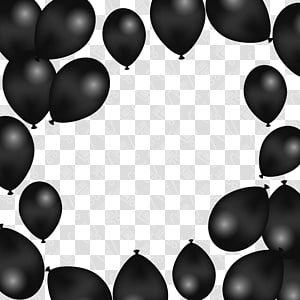 balão preto, balão Adobe Illustrator, balões pretos png