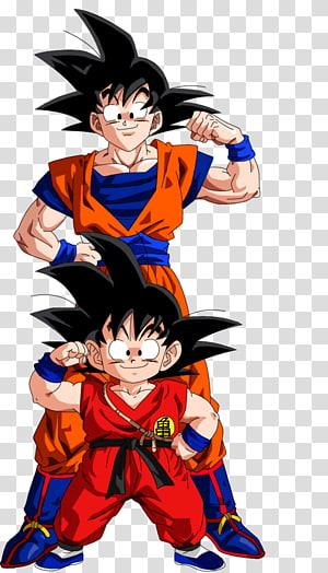 Son Goku e ilustração de Son Gohan, Goku Vegeta troncos Dragon Ball Gohan, evolução png