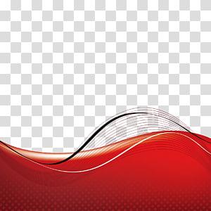 vermelho e preto, padrão de decoração de curvas PNG clipart