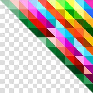 multicolorido, polígono triângulo geometria, polígono colorido PNG clipart