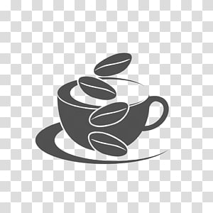 ilustração de xícara de chá branca, café café logotipo, cafés png