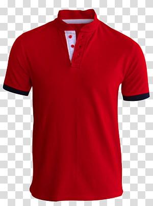 T-shirt Camisa polo manga, camiseta vermelha, camisa polo vermelha e preta PNG clipart