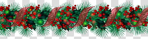 ilustração de guirlanda verde, decoração de Natal Guirlanda, guirlanda de Natal grande PNG clipart