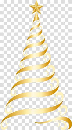 ilustração de árvore de Natal de ouro, enfeite de árvore de Natal, árvore de ouro Deco PNG clipart