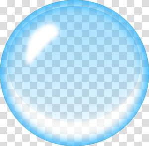 Bolha de sabão azul, bolha de água, bolha azul png
