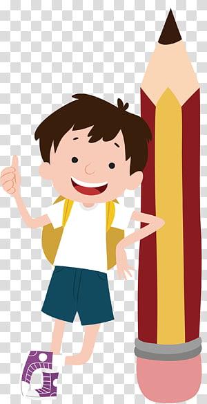 menino e lápis, Student Class School, o menino com um lápis PNG clipart