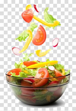 salada de legumes em tigela de vidro transparente, salada grega salada caesar salada de macarrão salada israelense, salada png
