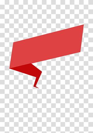 Fita de papel origami, fita vermelha de origami, ilustração vermelha png