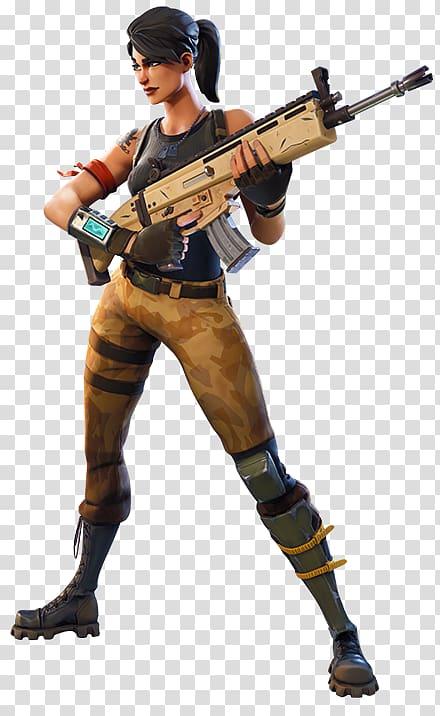ilustração fêmea de cabelo preto, batalha de fortnite royale campos de batalha de playerunknown \ battle royale game video game, outros png