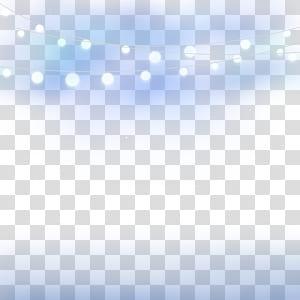 Linha céu ângulo ponto azul, luzes da noite, luzes da corda branca PNG clipart