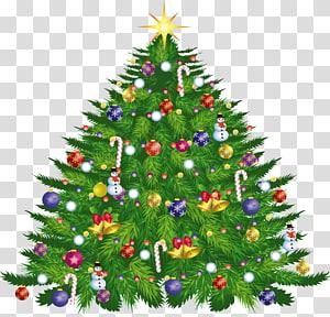 Ilustração da árvore de Natal, grande árvore de Natal Deco PNG clipart