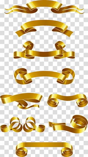 Banner da Web Fita Euclidiana, material de banner de fita de ouro, lote de fita de ouro png
