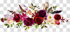 Convite de casamento Salvar a data Buquê de flores, peônias em aquarela, floral branco, vermelho e roxo png
