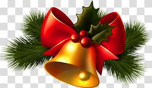Sino de Natal, Natal Bell dourado, ilustração de sino de Natal PNG clipart
