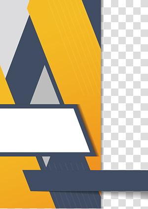 brochura de panfleto euclidean, geometria irregular amarela PNG clipart