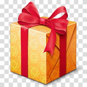 cartão de presente marrom e vermelho, ícone de caixa de presente, presente PNG clipart