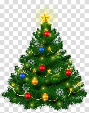 árvore de Natal verde com enfeites, árvore de Natal, linda árvore de Natal PNG clipart