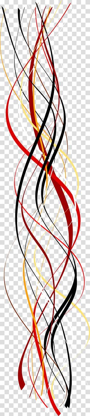 Geometria diferencial das curvas Geometria diferencial das curvas Linha Euclidiana, Linhas de curvas geométricas abstratas coloridas, redemoinho vermelho, preto e branco PNG clipart