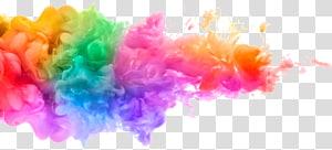 Pintura em aquarela Tinta acrílica, tinta energética e colorida, fumaça multicolorida PNG clipart