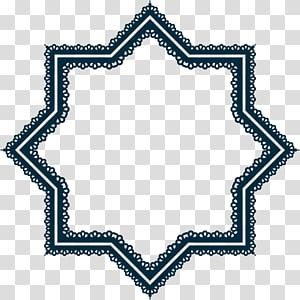 quadro abstrato preto, padrões geométricos islâmicos Arquitetura islâmica Estrela e crescente, laço PNG clipart
