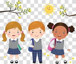 crianças em idade escolar, estudante uniforme escolar criança, as crianças usam uniformes PNG clipart