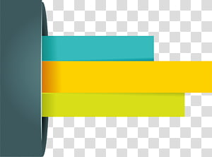 ilustração de barra verde, amarela e verde-azulado, elementos PPT png