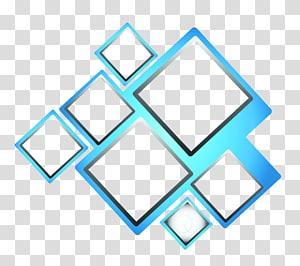 ilustração de formas geométricas, quadrado azul, caixa azul png