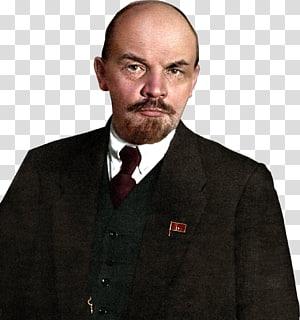 homem de casaco preto formal, mausoléu de Vladimir Lenin Lenin Revolução Russa União Soviética Governo Provisório Russo, Lenin png