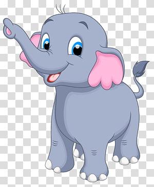 Elefante, pequeno elefante, ilustração de elefante cinza png