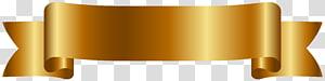 ilustração de fita de ouro, laranja de papel, banner dourado grátis png